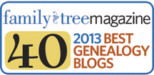 Top 40 Genealogy Blogs in 2013