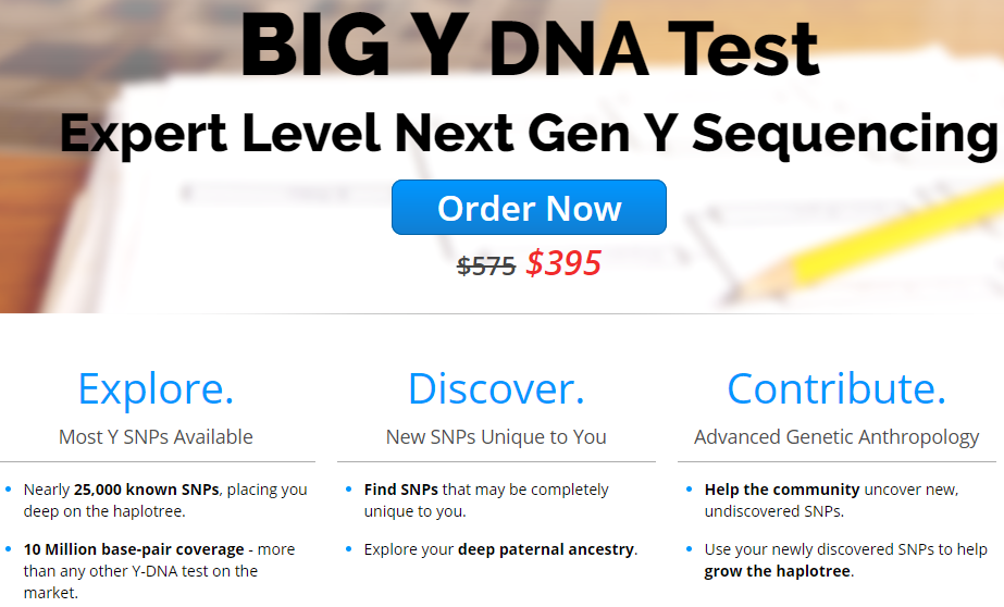 Thinking About a BigY Test at Family Tree DNA? - The Genetic